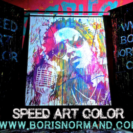 Boris Normand Speed and Glitter Painting
