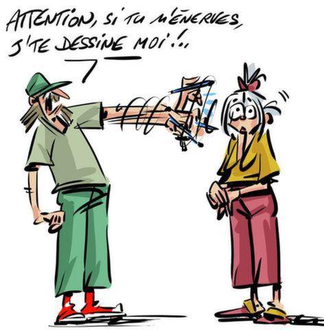 """dessine moi... ""<br />Dessin d'humour  <br />Christian Arnould"