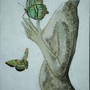 j'ai voulu exprimer le fait que ce corps blessé croyait encore à l'Espoir en envoyant un papillon porter son message