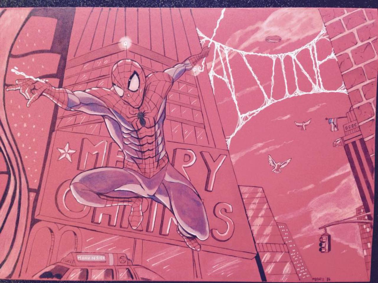Spider-man pour Alvine