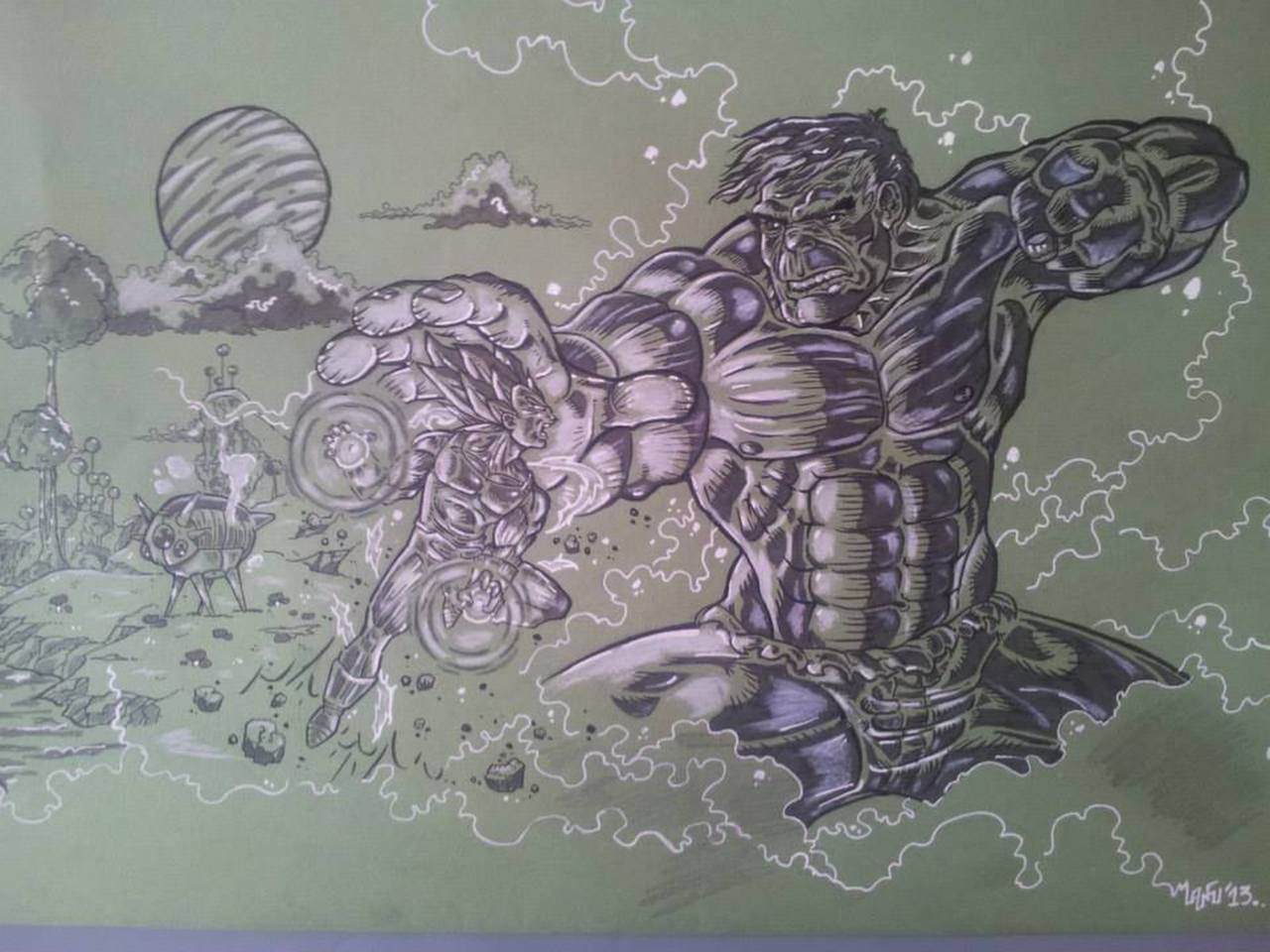 Végéta versus Hulk