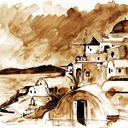 aquarelles-paysages-grece-aquarelle-moulin-hauton