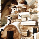 dessin-paysage-grece-moulin-hauton