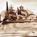 dessin-aquarelle-village-sud-aquarelle-hauton