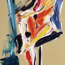 peintures-modernes- femme-nu-au-genou-hauton