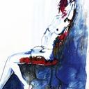 peintures-modernes-femme-nu-assise-hauton