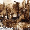 aquarelles-paysages-foret-lavis-fontainebleau-barbizon-hauton