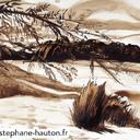dessin-paysage-lavis-au-bord-de-l'eau-hauton