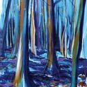 peinture-acrylique-foret-bleu-hauton