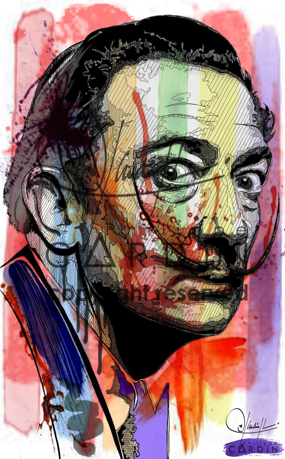 Salvador : Peinture infographique imprimée sur plaque PVC appliquée sur toile D'artiste coton L 73 x H 116 cm
