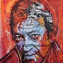 Gainsbar : peinture acrylique sur toile artiste coton L 100 x H 120 cm