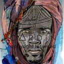 Peinture infographique imprimée sur plaque PVC appliquée sur toile D'artiste coton  L 73 x H 116 cm