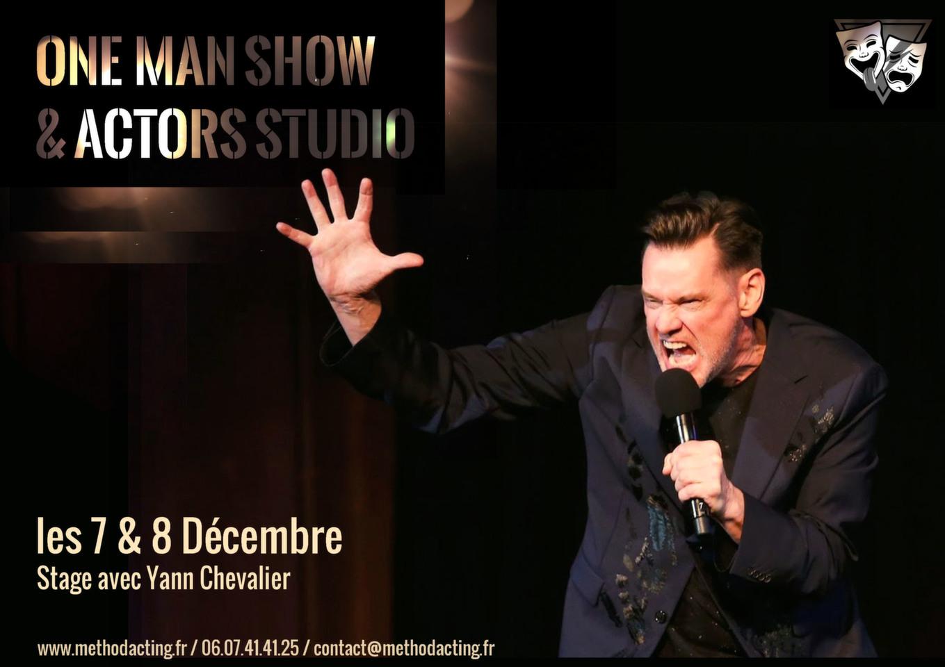 Stage One Man Show et Actors Studio<br />Method Acting Center<br /><br />WEEKEND du 7 & 8 Décembre 2019<br />de 13h à 19h,<br />au 93 Avenue d'Italie, Paris 13e<br />avec Yann CHEVALIER<br /><br />Aux USA, de nombreux «stand-up comedians» sont formés aux méthodes de Stanislavski et de l'Actors Studio. Et pour cause : le travail sur l'imaginaire doublé de l'expertise du travail sensoriel permet aux performers de one man show de créer de véritables environnements dynamiques, ludiques, crédibles et délirants !<br /><br />Bienvenue dans notre approche, unique en France, de la Méthode au service des one man shows.<br /><br />OBJECTIFS du Stage ONE MAN SHOW & ACTORS STUDIO<br />- Apprendre à utiliser tout l'éventail sensoriel de la Méthode au service du one-man-show<br />- Découvrir comment sculpter le silence sur scène, travailler le rythme spécifique à l'humour<br />- Créer une relation réelle et dynamique avec le public, réussir à le personnifier<br />- Créer des univers à la fois invisibles et extrêmement vivants<br />- Comprendre et faire des choix de mise en scène pour illustrer ses propos<br />- Improviser une scène sur thème ou un texte imposé<br />- Composer son (et ses) personnage(s) de One Man Show<br /><br />INFOS PRATIQUES<br />- De 8 à 16 personnes<br />- 160€ pour un stage weekend<br />- Forfaits à partir de 3/6/9 stages weekend : 10% de remise / 15% de remise / 20% de remise, découvrez notre planning de stages 2019<br />- Formations éligibles à l'AFDAS, aux OPCA, et Pôle emploi<br />- Un acompte de 30% vous sera demandé au moment de la réservation<br /><br />INSCRIPTIONS EN LIGNE<br />https://www.methodacting.fr/<br />contact@methodacting.fr<br />06 07 41 41 25<br /><br />Image : The New Yorker