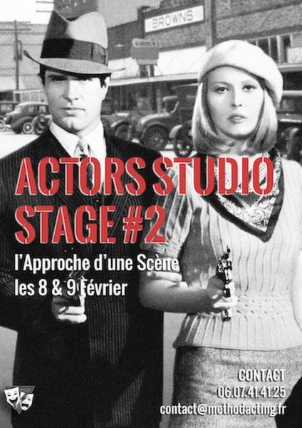 Stage 2 - L'approche d'une Scène selon les méthodes de l'Actors Studio<br />Method Acting Center<br /><br />WEEKEND du 8 & 9 Février 2020<br />de 13h à 19h30 le samedi et de 13h30 à 19h00 le dimanche,<br />au 93 Avenue d'Italie, Paris 13e<br />avec Rafael Linares<br /><br />Élaborée par Constantin Stanislavski puis popularisée par le légendaire Actors Studio de New-York, la méthode Actors Studio a littéralement révolutionné le monde de l'Acting.Il ne s'agit pas ici de vaguement copier la vie:il s'agit véritablement d'y créer la vie !<br /><br />Method Acting Centervous propose un stage weekend sur le travail de Scènes dialoguéesselonles méthodes deStanislavski et del'Actors Studio.<br />Pour Acteurs & Réalisateurs, débutants ou confirmés.<br /><br />OBJECTIFS du STAGE #2 l'Approche d'une Scène :<br />- Comment se préparer avant une scène, seul ou avec son partenaire de jeu- Découvrir comment faire d'une scène une analyse inspirante- Savoir traduire ses choix, envies et fantasmes de jeu en outils concrets et tangibles- Apprendre à structurer son jeu et définir une stratégie pour chaque scène- Manier la méthode de l'analyse active de Stanislavski<br />Avant ce stage, il est conseillé de faire également :<br />Stage #1 : Initiation, weekend du 29 Février et 1er Mars, sauf si vous avez déjà quelques bases de la méthode<br /><br />Après le stage, il est conseillé de poursuivre avec :<br />Stage #3 : Composition du Personnage, weekend du 22 & 23 Février<br />Stage #4 : Face Caméra, weekend du 29 Février et 1er Mars<br />Stage #5 : Casting & Marché Professionnel, weekend du 28 & 29 Mars<br />Stage #6 : Acting in English, weekend du 2 & 3 Mai<br /><br />INFOS PRATIQUES : <br />- De 8 à 16 personnes<br />- 160€ pour un stage weekend<br />- Forfaits à partir de 3/6/9 stages weekend : 10% de remise / 15% de remise / 20% de remise, découvrez notre planning de stages 2019/2020<br />- Formations éligibles à l'AFDAS, aux OPCA, et Pôle emploi<br />- Un acompte de 30% vous sera dema