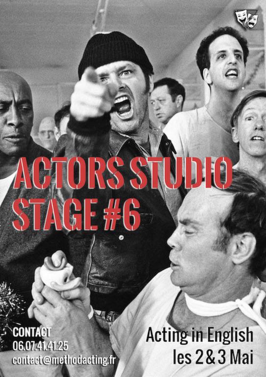 Stage Acting In English<br />Method Acting Center<br /><br />Stage weekend avec Sonia Backers, pour apprendre à décrypter et jouer des scènes en anglais, tirées de films et de pièces de théâtre.<br /><br />WEEKEND du 2 &3 Mai 2020<br />de 13h à 19h,<br />au 93 Avenue d'Italie, Paris 13e<br />avec Sonia BACKERS<br /><br />OBJECTIFS du Stage ACTING in ENGLISH<br />- Analyser et décomposer une scène pour vous permettre de vous connecter émotionnellement, afin de créer une scène la plus «réaliste» possible<br />- Découvrir ce qui motive réellement chaque être humain grâce aux outils et techniques de la méthode<br />- Créer des personnages et des relations dynamiques dans des scènes «sincères»<br />- Travailler dans une atmosphère bienveillante qui favorise le lâcher-prise, la spontanéité et la prise de risques<br />- Expérimenter différents points de vue d'une même scène<br /><br />L'Atelier se déroulera intégralement en anglais, il est donc indispensable d'avoir un niveau courant d'anglais.<br /><br />INFOS & Réservation en ligne<br />- De 8 à 16 personnes<br />- 160€ pour 1 weekend<br />- Forfaits à partir de 3/6/9 stages weekend : 10% de remise / 15% de remise / 20% de remise, découvrez notre planning de stages 2019/2020<br />- Formations éligibles à l'AFDAS, aux OPCA, et Pôle emploi<br />- Un acompte de 30% vous sera demandé au moment de la réservation<br />https://www.methodacting.fr/stage-6-acting-in-english/<br />contact@methodacting.fr<br />06 07 41 41 25