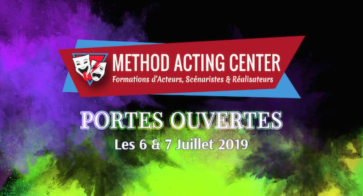 Portes Ouvertes Juillet 2019 - Method Acting Center<br /><br />Method Acting Center, formations d'Acteurs, Scénaristes & Réalisateurs pour le Cinéma & le Théâtre, vous propose de participer à ses Portes Ouvertes, durant lesquelles vous pourrez tester gratuitement l'ensemble de ses ateliers :<br /><br />les 6 & 7 Juillet 2019<br />de 11h00 à 21h30,<br />au 93 avenue d'Italie, Paris 13e<br /><br />COURS D'ESSAIS : <br />ACTORS STUDIO / ACTING in ENGLISH / SCÉNARIO & RÉALISATION /<br />ACTING on CAMERA / IMPROVISATION / YOGA / CHANT / DANSE /<br />COMÉDIE MUSICALE / COURS D'ANGLAIS / ACTING pour ADOS / <br /><br />NOS COACHES :<br />À Method Acting Center, tous nos coaches sont en constante activité dans le milieu du Cinéma ou du Spectacle. Ils pourront ainsi vous guider dans votre formation avec une connaissance concrète du métier.<br /><br />NOTRE ENGAGEMENT QUALITÉ : <br />- Une approche bienveillante et pragmatique de la méthode<br />- Des cours non surchargés, la possibilité de passer très régulièrement vos scènes<br />- Un suivi personnalisé et adapté à chaque profil d'acteur<br />- Une ambiance générale qui favorise l'entraide et non la compétition<br />- Une souplesse quand à vos obligations professionnelles<br />- Une équipe pédagogique à votre écoute pour vos doutes & questions<br />- Des salles adaptées à chaque type d'atelier<br />- Et la possibilité de répéter gratuitement vos scènes dans nos locaux<br /><br />INFO & RÉSERVATION : <br />- L'accès à tous les cours d'essais est libre et gratuit, seule compte votre motivation !<br />- Pour tous les cours d'essais, merci de penser à réserver en ligne :<br />https://www.methodacting.fr/portes-ouvertes-juillet/<br /><br />CONTACT : <br />06 07 41 41 25<br />contact@methodacting.fr<br />www.methodacting.fr
