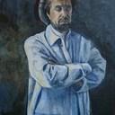 Monsieur M  Acrylique et médiums 55 x 81