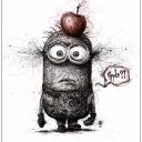 "Artwork ""Minion Apple?!"" , Gribouillage, 40x50cm"