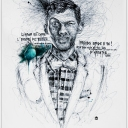 "Artwork of ""stromae"" , gribouillage d'artiste, 60x80cm"