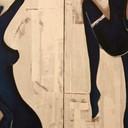 Blueladiesparyingforrain - Diptych 30cmx120cm