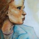 Portrait<br />Acrylique sur papier 30x40