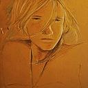 Eva, portrait on paper