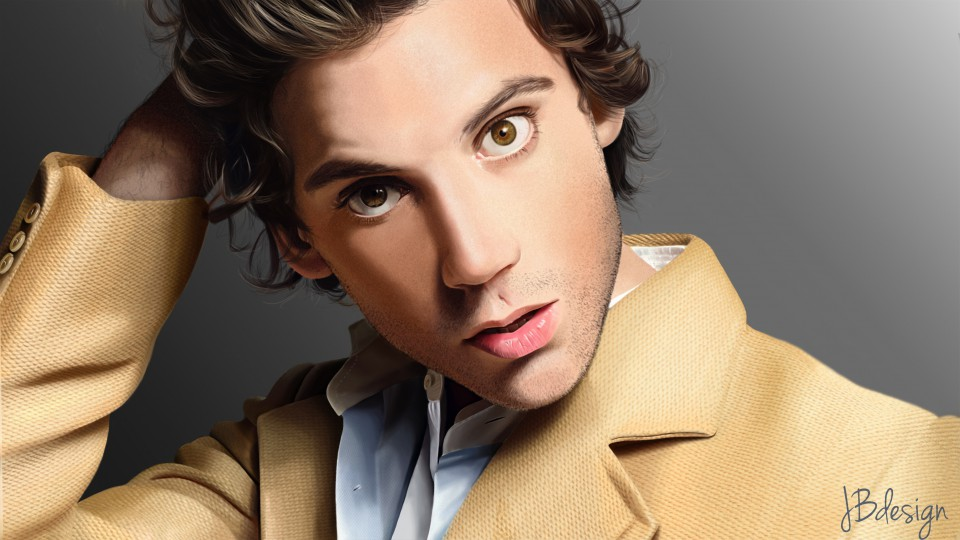 Portrait du chanteur Mika en digital painting ma page : https://www.facebook.com/JBdesign90<br />la vidéo : https://www.youtube.com/watch?v=I6zr5HEMl6Q