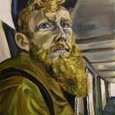 """Mon dernier tableau """"Roux barbu deutéranopie"""", pour les parisiens, il y aura une exposition deutéranopie courant Novembre, je vous en reparle très vite !"""