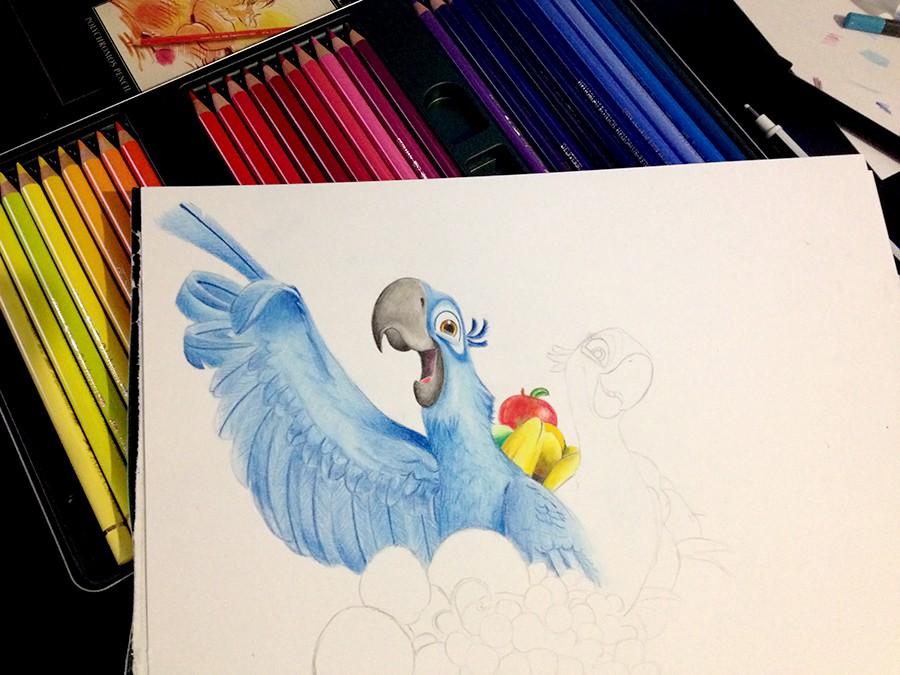 teste crayon couleur faber castell polychromos