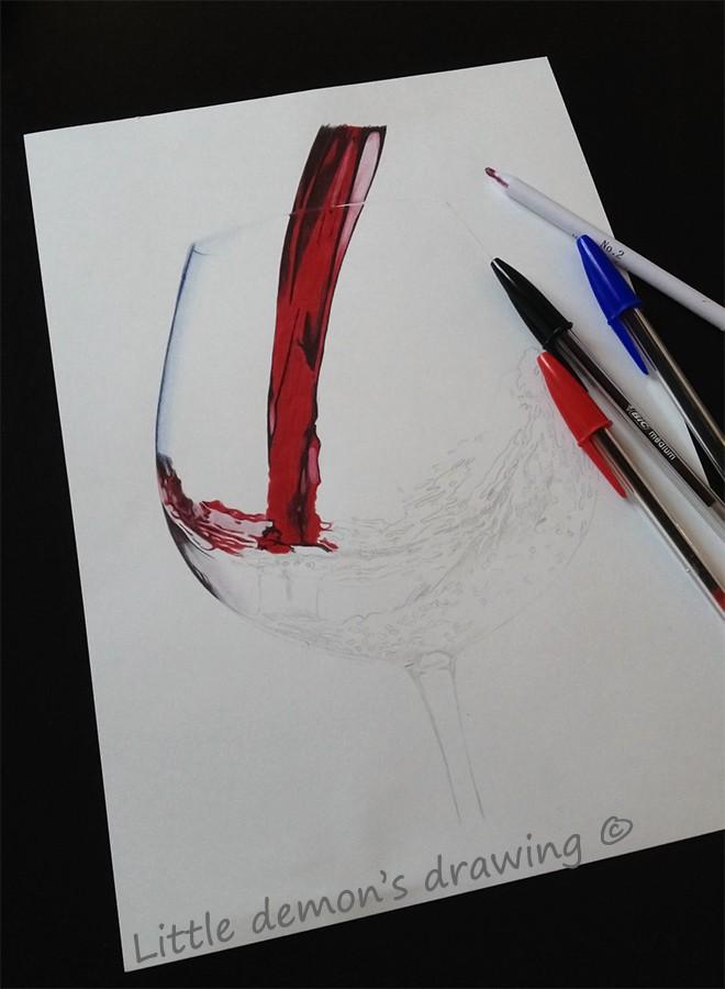 work in progress<br />Ball pen drawing/ dessin aux stylos billes