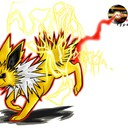 Voltali, pour le Brodex, pokédex d'un dessinateur sur Facebook. Les éclairs sont un peu sales mais bon ...