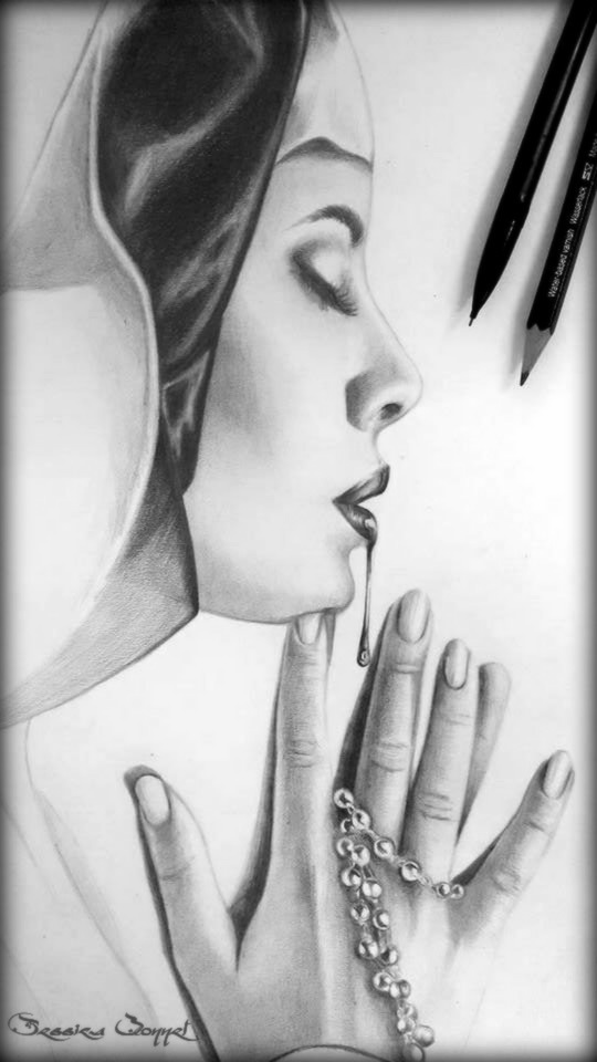 """Amen"" (In Progress ...) - Crayons graphite / A3"