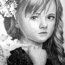 """Young Beauty"" - Crayons graphite Faber Castell, format A3 (2013)"