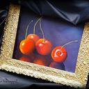"""""""Cherry"""" - Oil painting (2015) <br />Premier essai de peinture à l'huile sur bois ... #FreshPaint"""