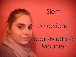 Siem - Je reviens - Jean-Baptiste Maunier - Cover