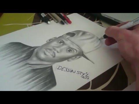 Portrait dessin de Black M