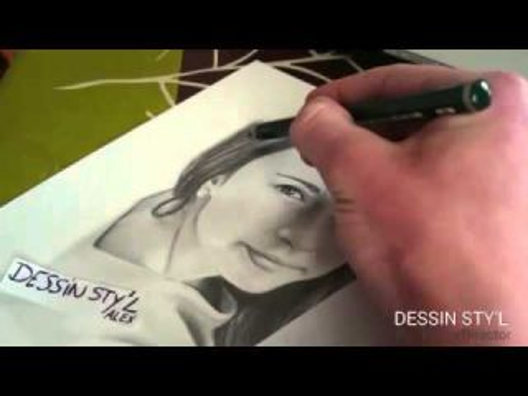 Portrait dessin (crayons bois)