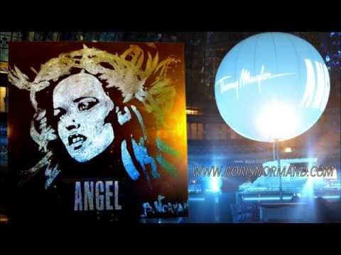 Peintre Performer Boris Normand, Georgia May Jagger, Fashion week Paris, Amazing Glitter Painting
