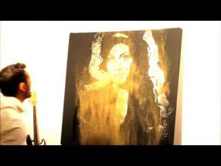 Amazing speed painter,Boris Normand Glitter Painting,peintre Performer,Amy Winehouse