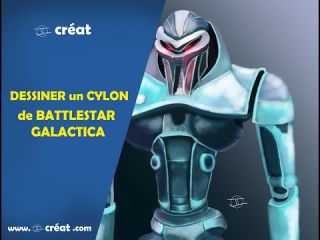 DESSINER un CYLON BATTLESTAR GALACTICA ( photoshop )