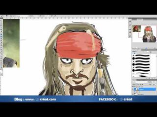 [ Digital Painting ] S'inspirer de Jack Sparrow ( pirates des caraibes )