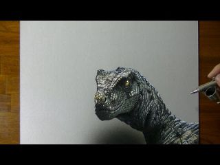 Drawing (Visual Art) Time Lapse: a Velociraptor