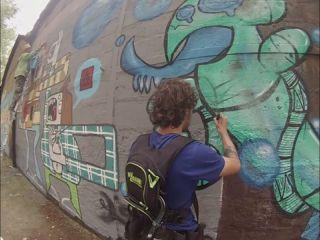 Session Graff a Redon/ Jef et Mahca / 2014