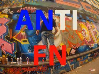 Graff de protestation anti-Fn Skate parc de bercy