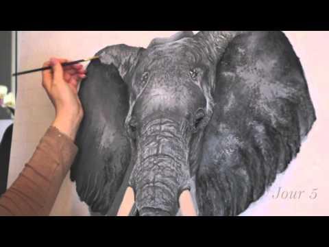 Speed painting éléphant