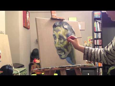 Live painting - Cindy Nikolic