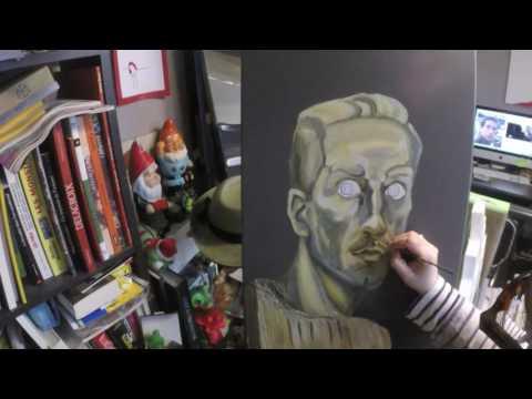 Regard de pierre - Timelapse painting