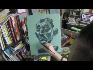 Homme statue bronze - Live painting Time lapse