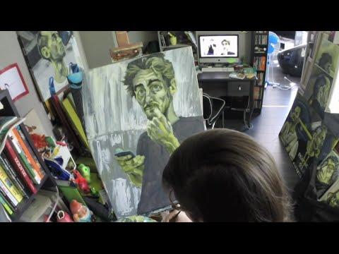 Attente RER deutéranopie - Time Lapse - Painting