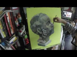 Fred Parker Marbre - Live painting Time lapse